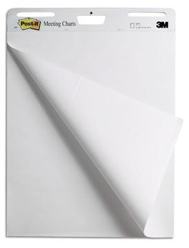 Post-it meeting chart, ft 63,5 x 76,2 cm, gerecycleerd, blok van 30 vel, pak van 2 stuks