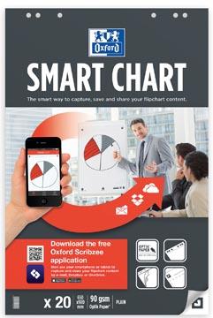 Oxford Smart Chart flipcharblok, ft 65 x 98 cm, pak met 20 vel, blanco